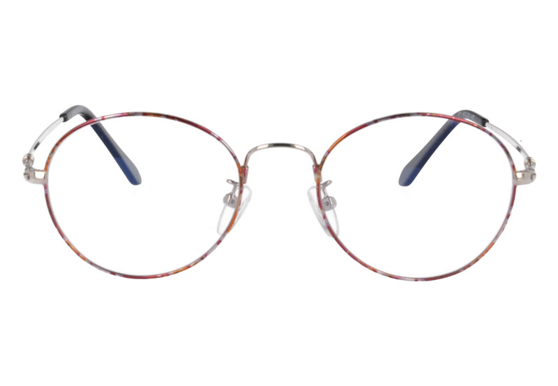 Memory round nature titanium full rim optical frame eyewear