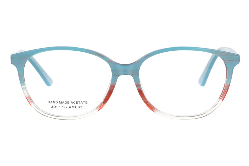 Acetate optical frame with spring hinge