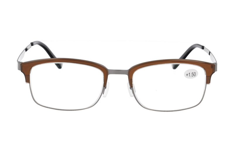 metal anti blue light reading eyeglasses with ADD :+100~+400