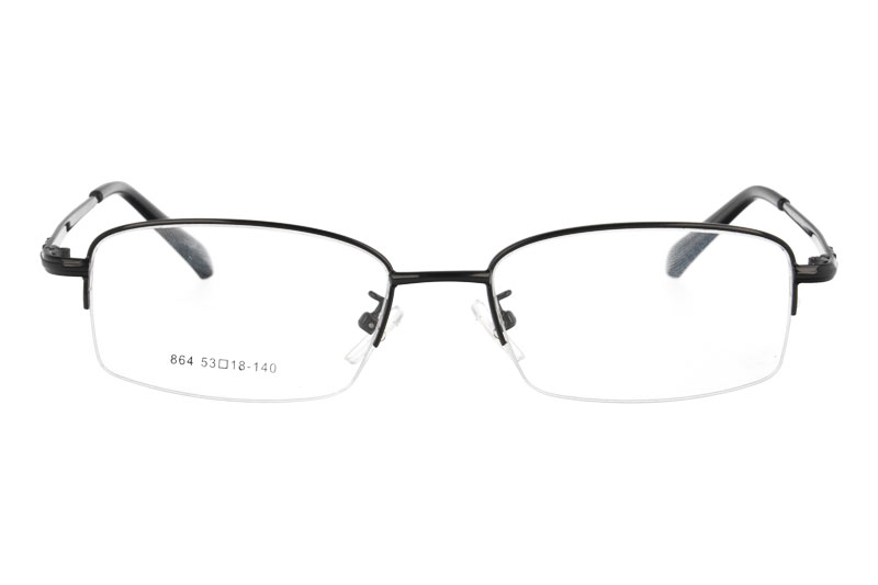 Metal half rim designer glasses optical frames eyeglasses