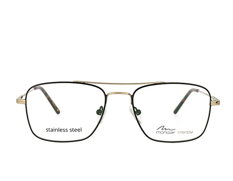 Square Mans designer double bridge metal eyewear