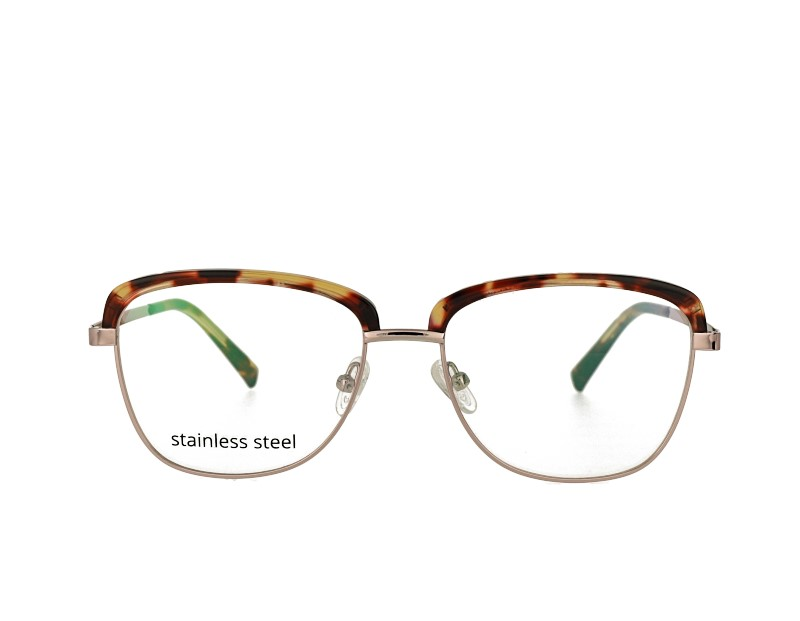 Butterfly acetate and metal combination prescription spectacles RX optical frames