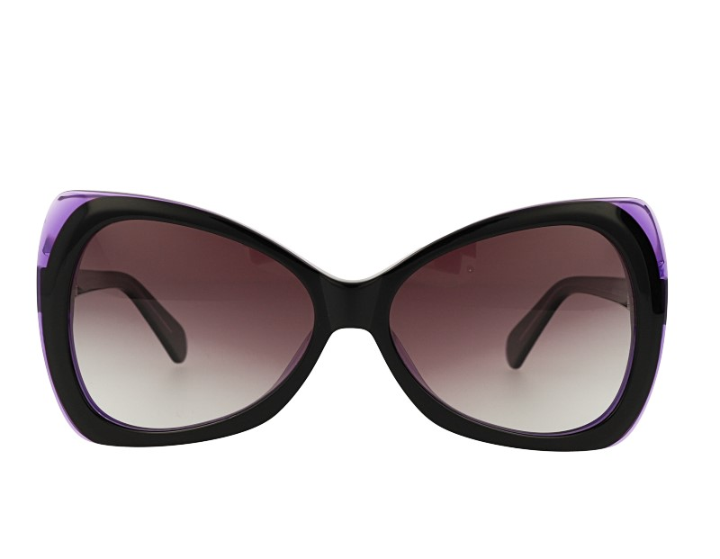 Butterfly Big Acetate Womans Polarized Sunglasses
