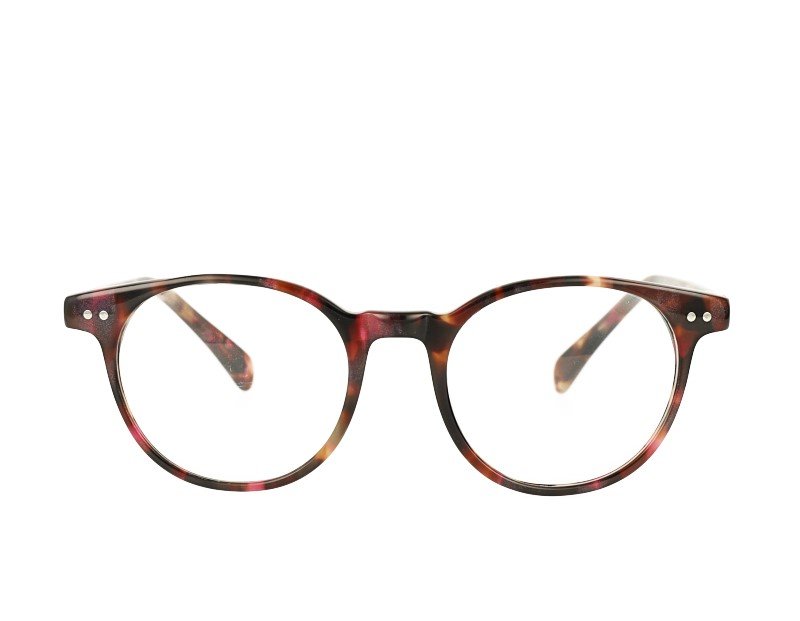 unisex oval acetate  prescription spectacles eyewear eyeglasses