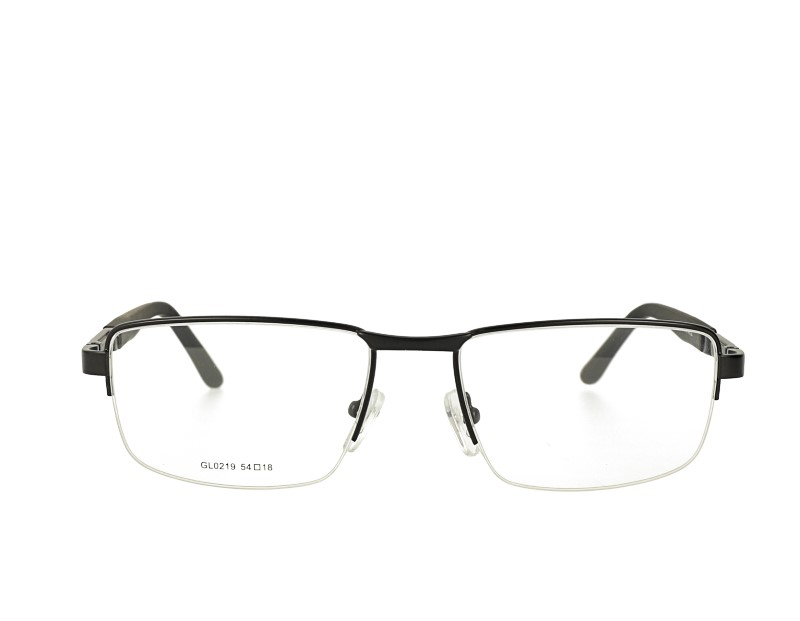 Mans Half rim metal optical glasses with spring hinge