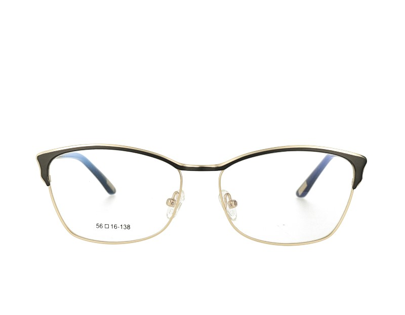 Metal Optical Eyewear Cat Eye Shape Acetate Temple