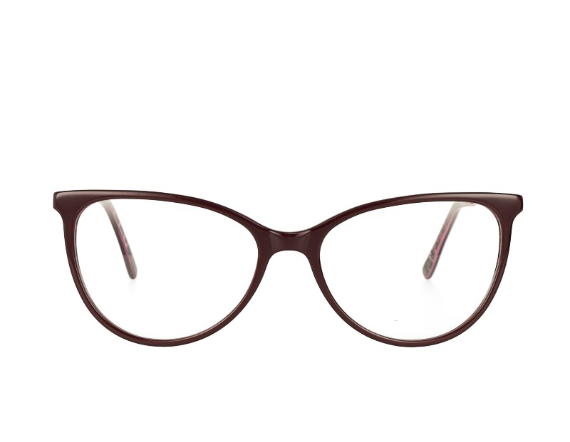 Cat Eye Acetate And Metal Combination Optical Frame