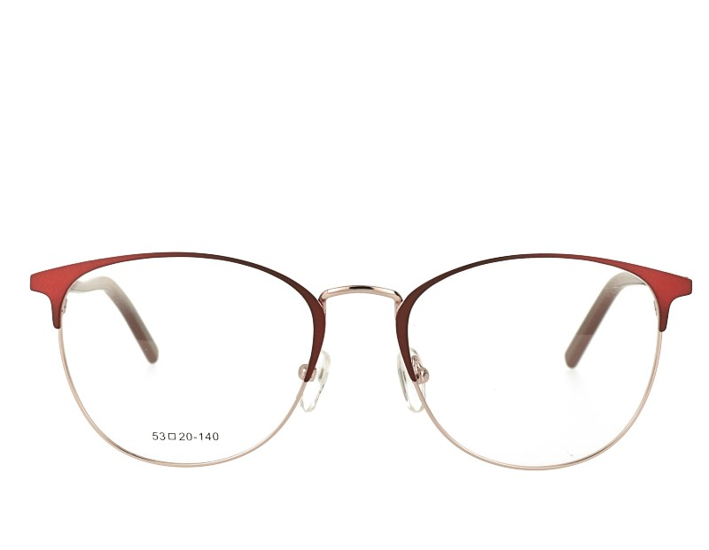 Oval Woman's Stainless Steel Optical Eyewear
