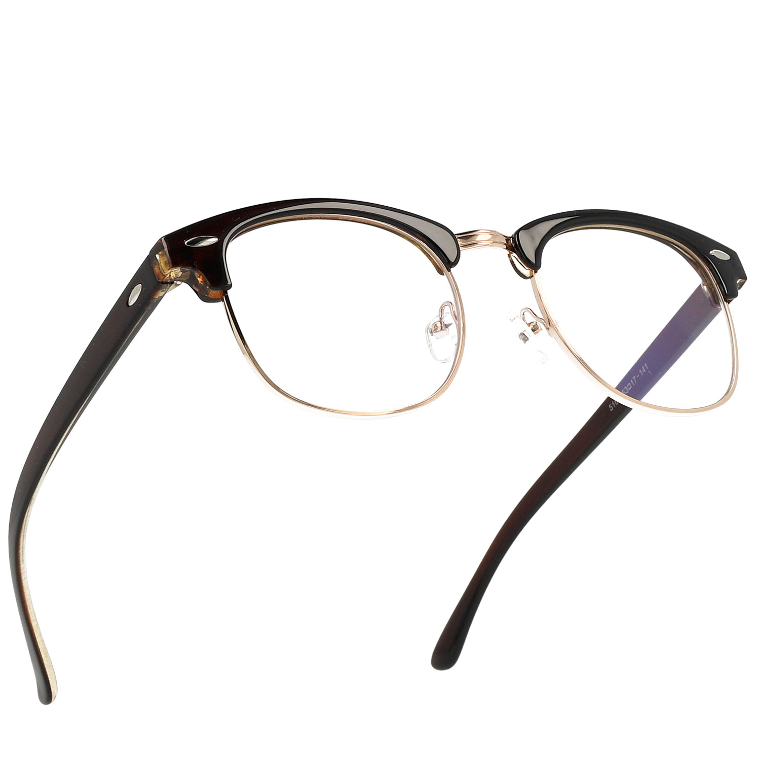 Unisex Aviator metal and Plastic combination Optical Frame