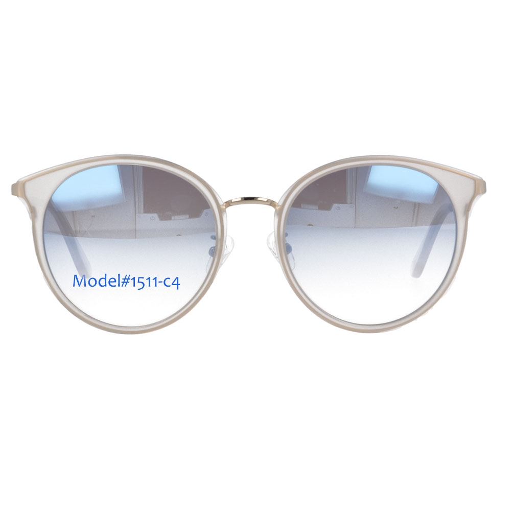 Acetate and Metal Combination Woman's Sunglasses