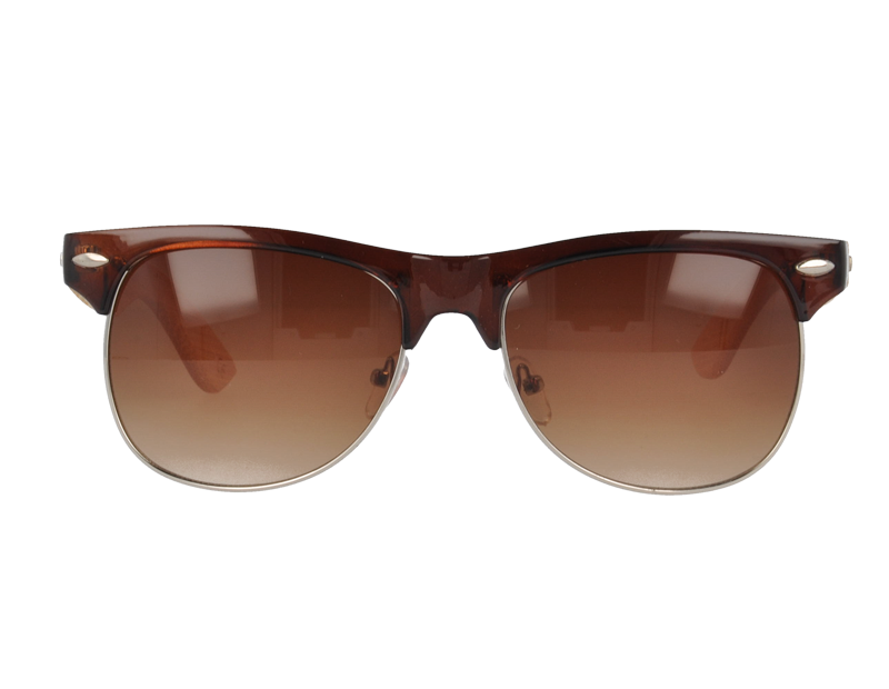 UV400 Wayfarer Sunglasses with bamboo Temples