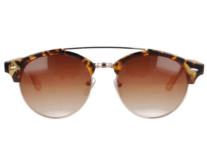 UV400 Vintage Sunglasses with bamboo Temples