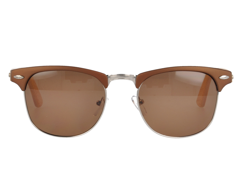 Wayfarer Combination Sunglasses with wood Temples