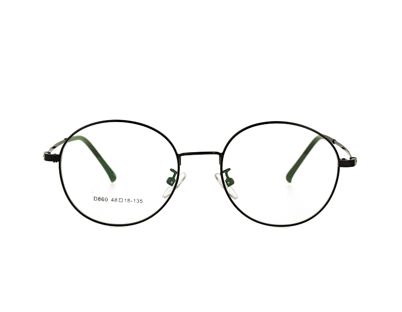 Unisex oval full rim Retro round metal optical Frame