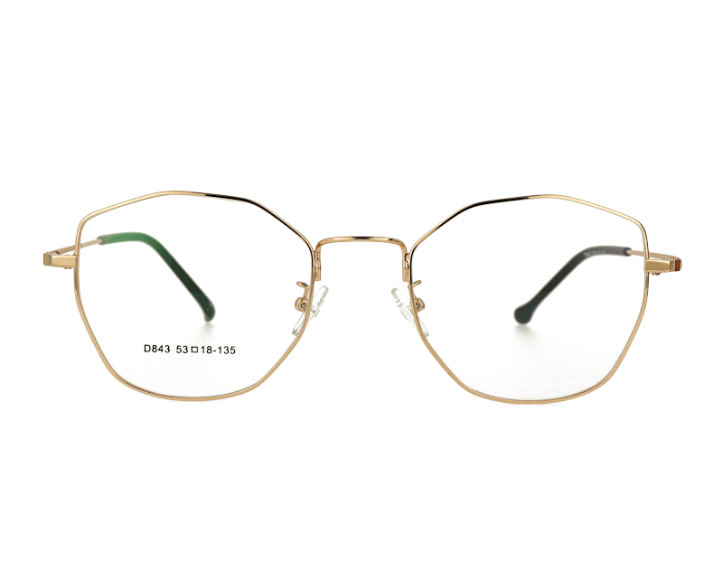 Woman's full rim Retro butterfly hexagon metal optical Frame