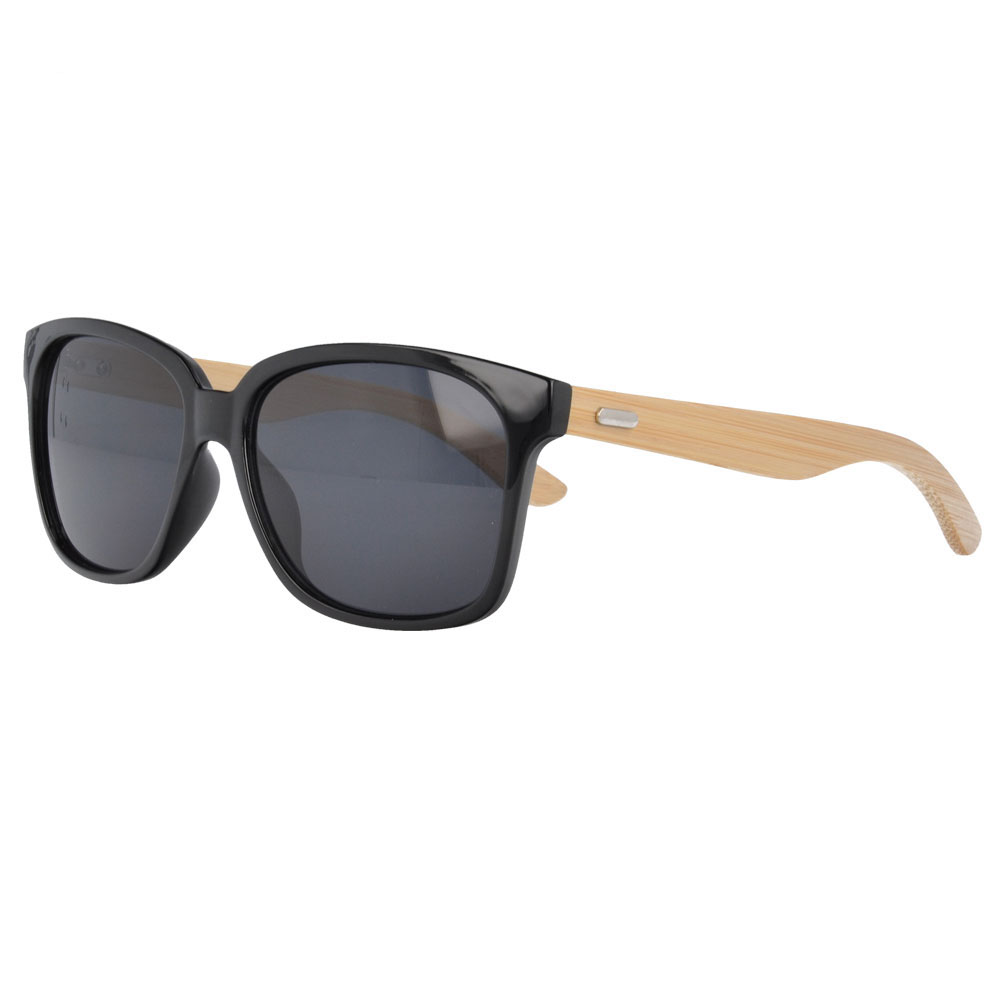 PC Plastic Sunglasses with bamboo Temples