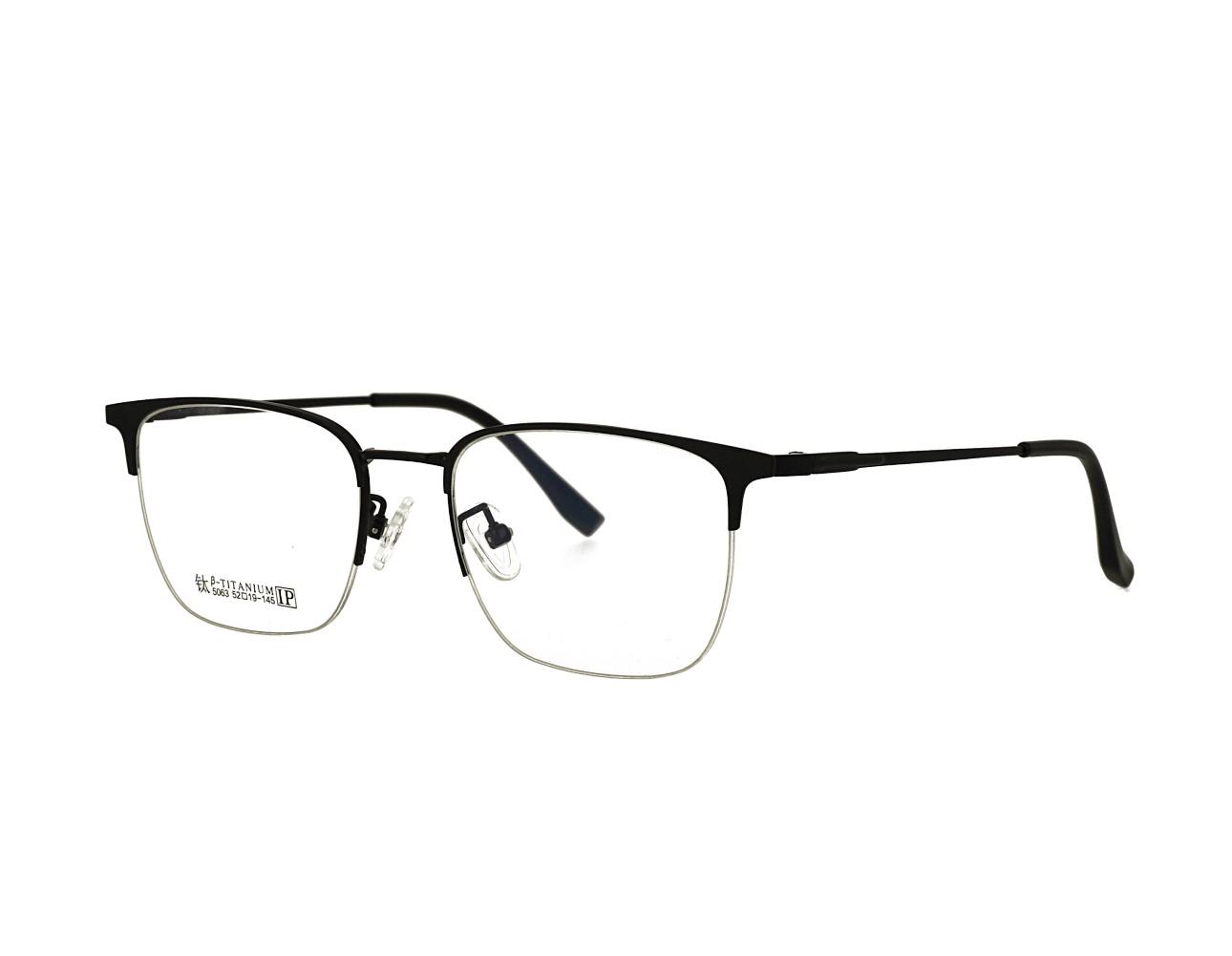 52 size Rectangle Designer Half Rim Optical frame Stainless Steal Eyeglasses Mans Eyewear