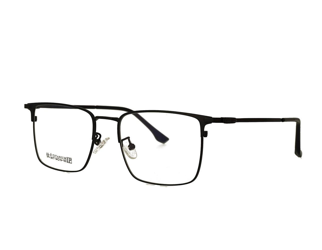 54size Rectangle Designer Optical frame Stainless Steal Eyeglasses Mans Eyewear