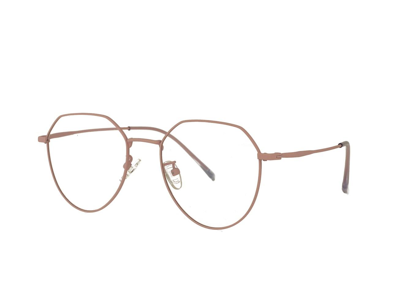 55 size HexagonUnisex Retro Optical frame Vintage Eyeglasses Supplier