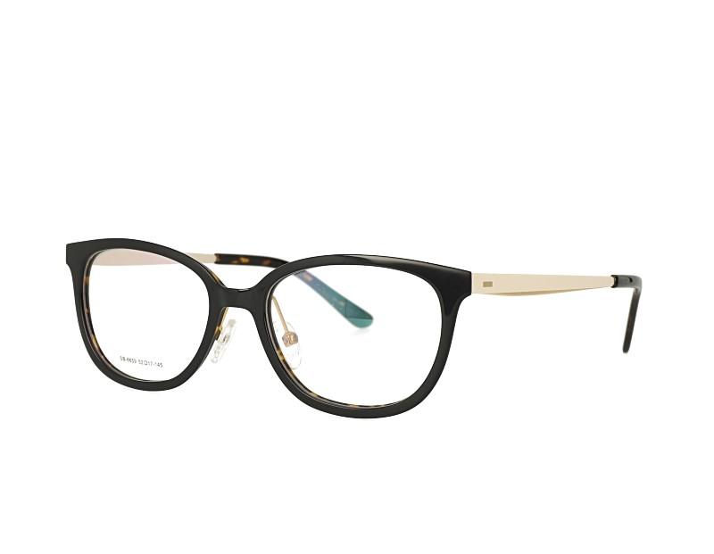 Acetate Optical Glasses and Metal Temples