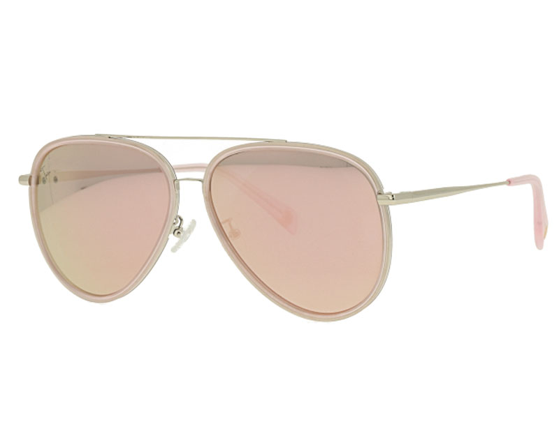 Acetate and Metal Combination Sunglasses