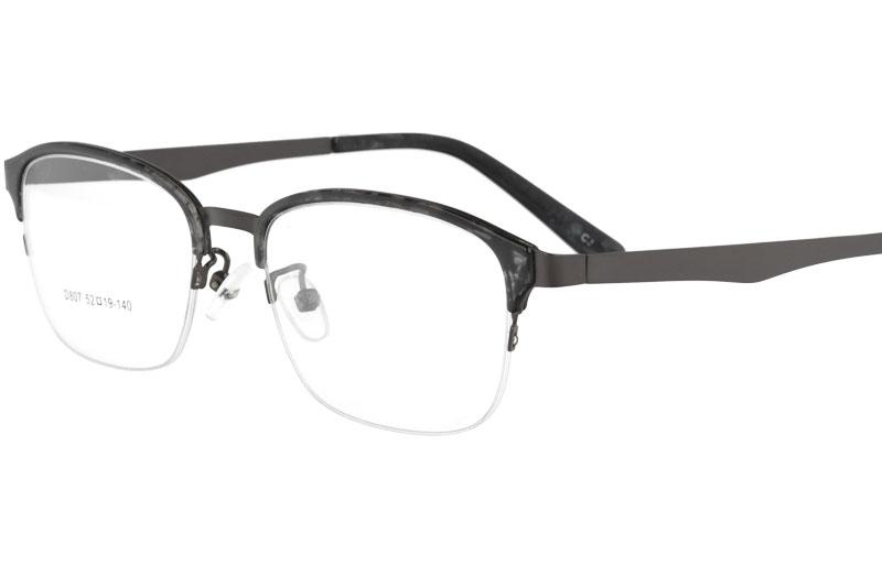 Acetate eyeglasses with superelasticity metal temple eyewear
