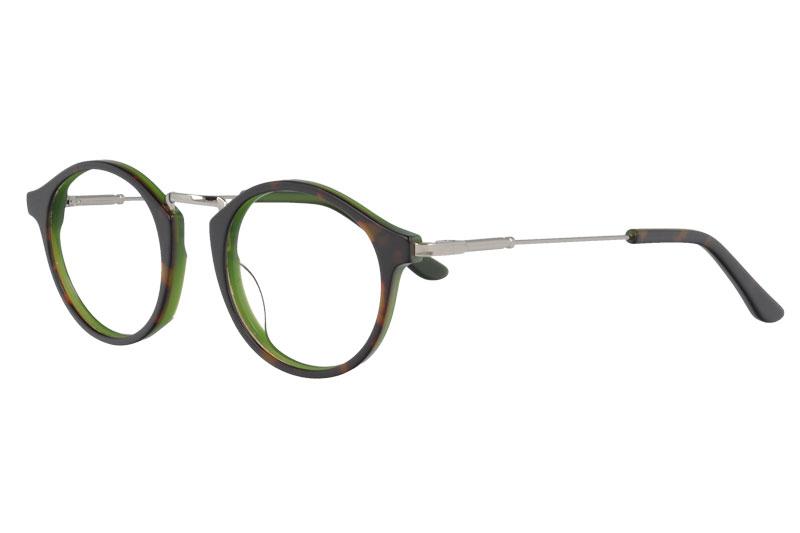 Acetate&metal glasses frame  round vintage Prescription Eyeglasses