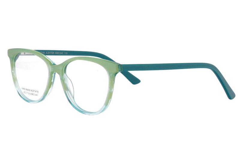 Acetate optical frame with spring hinge
