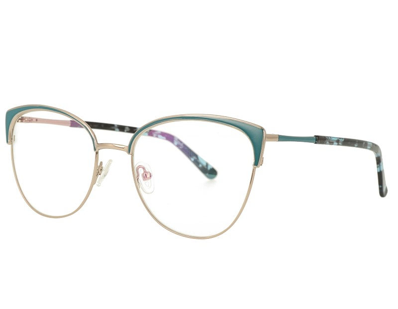 Big Cat eye Stainless Steel Optical Frames