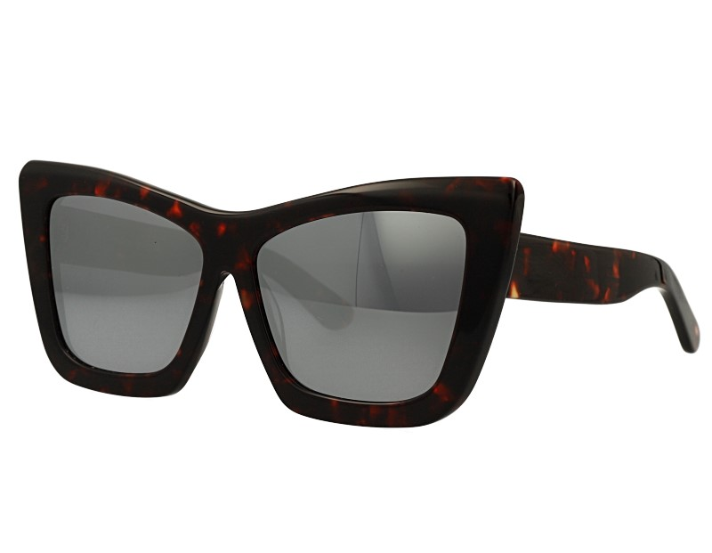 Bold Tick Acetate Cat Eye Design Sunglasses Eyewear
