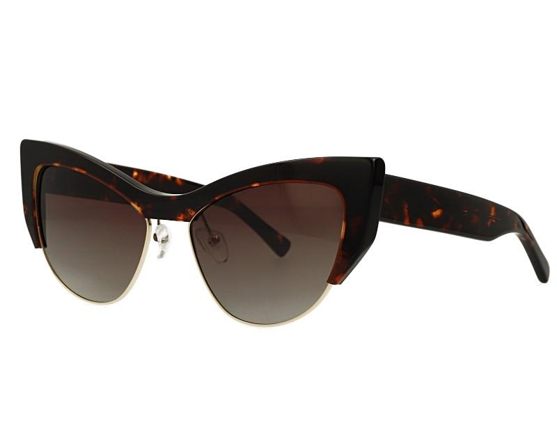 Cat Eye Acetate And Metal Combination Eyewear Polarized Sunglasses