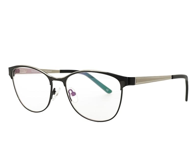Cat Eye Full Rim Metal Frame with Acetate Tip Eyewear Spring Hinge