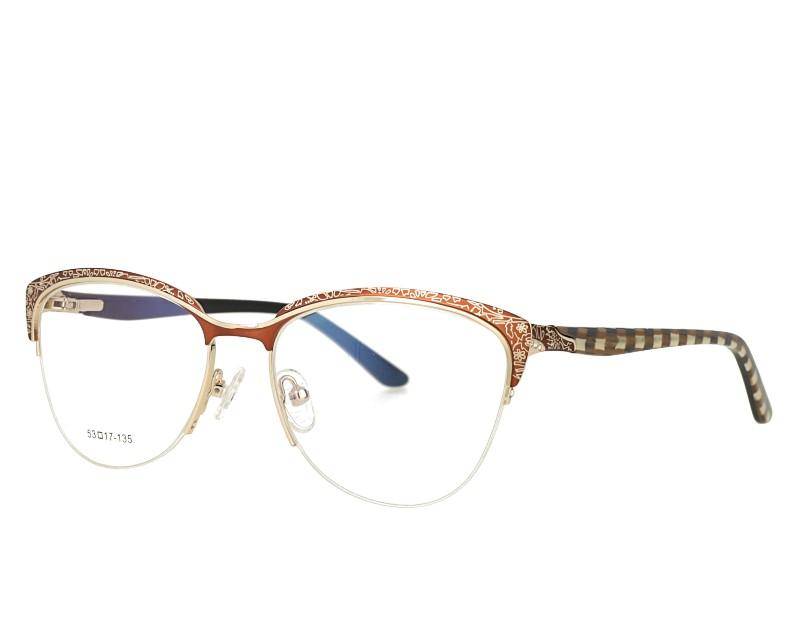 Cat Eye Laser desgin Stainless Steel Optical Eyewear