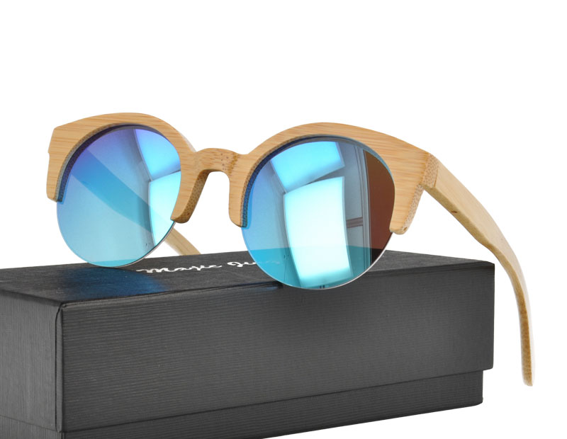 Cat Eye Nature bamboo womans UV400 Sunglasses