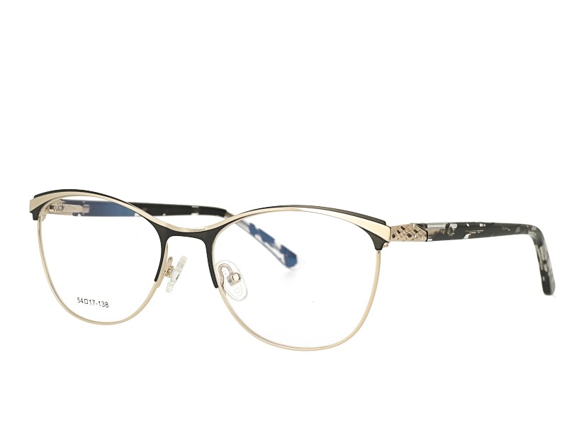 d7f89e3bdb Cat Eye Woman Full Rim Metal Frame Acetate temple