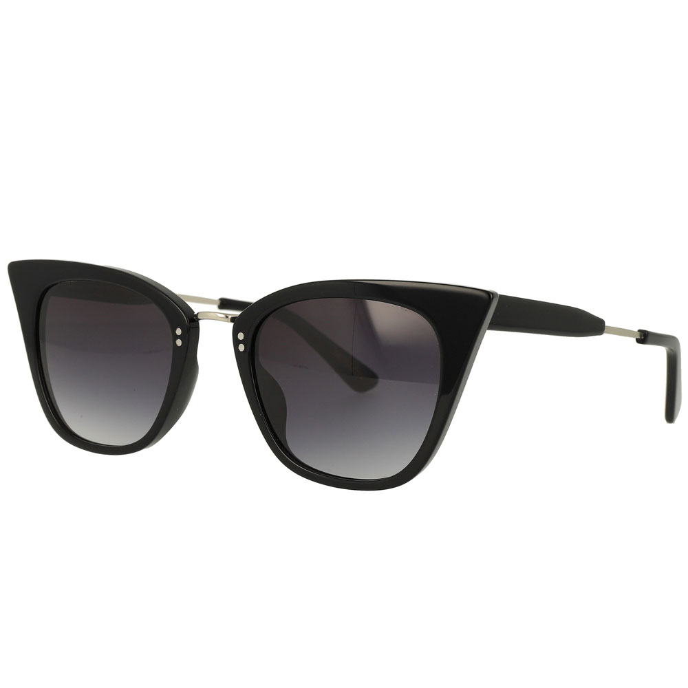 Cat eye Acetate Metal Combination Sunglasses
