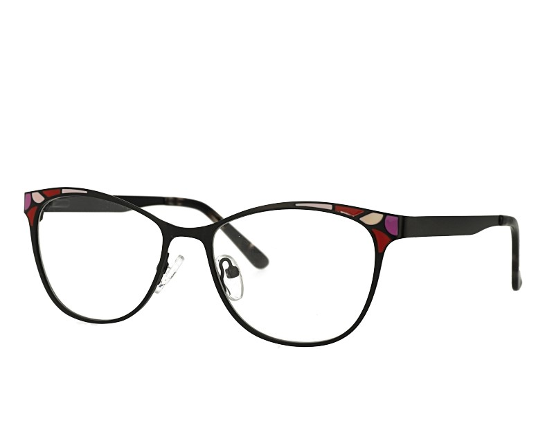 Designer Oval woman Stainless steel eyewear glasses