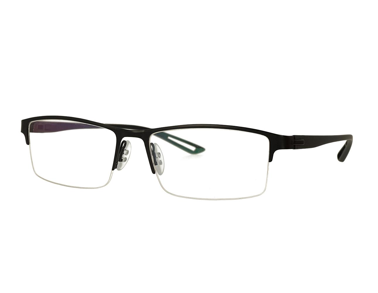 Half rim Mans designer metal eyewear with TR90 temples