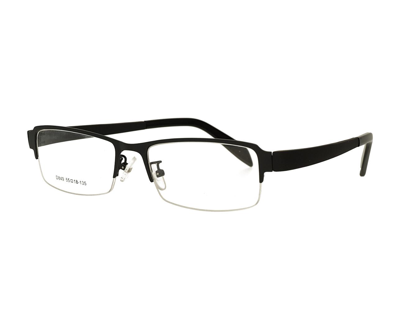 Half rim man's designer metal eyewear with TR90 temples