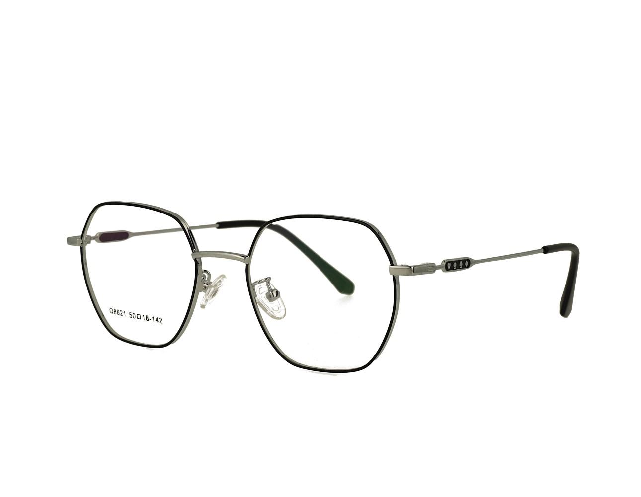 50 Size Hexagon Designer Optical frame Stainless Steal Eyeglasses Unisex Eyewear