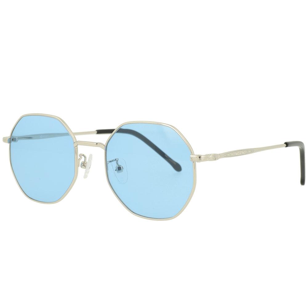 Hexagon Metal Ocean Lens Sunglasses