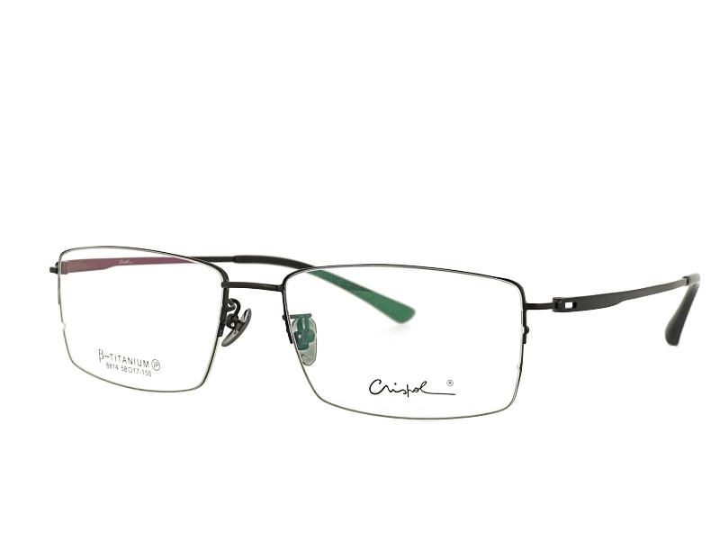Man's Classic Half Rim Pure titanium Optical frame Prescription Glasses