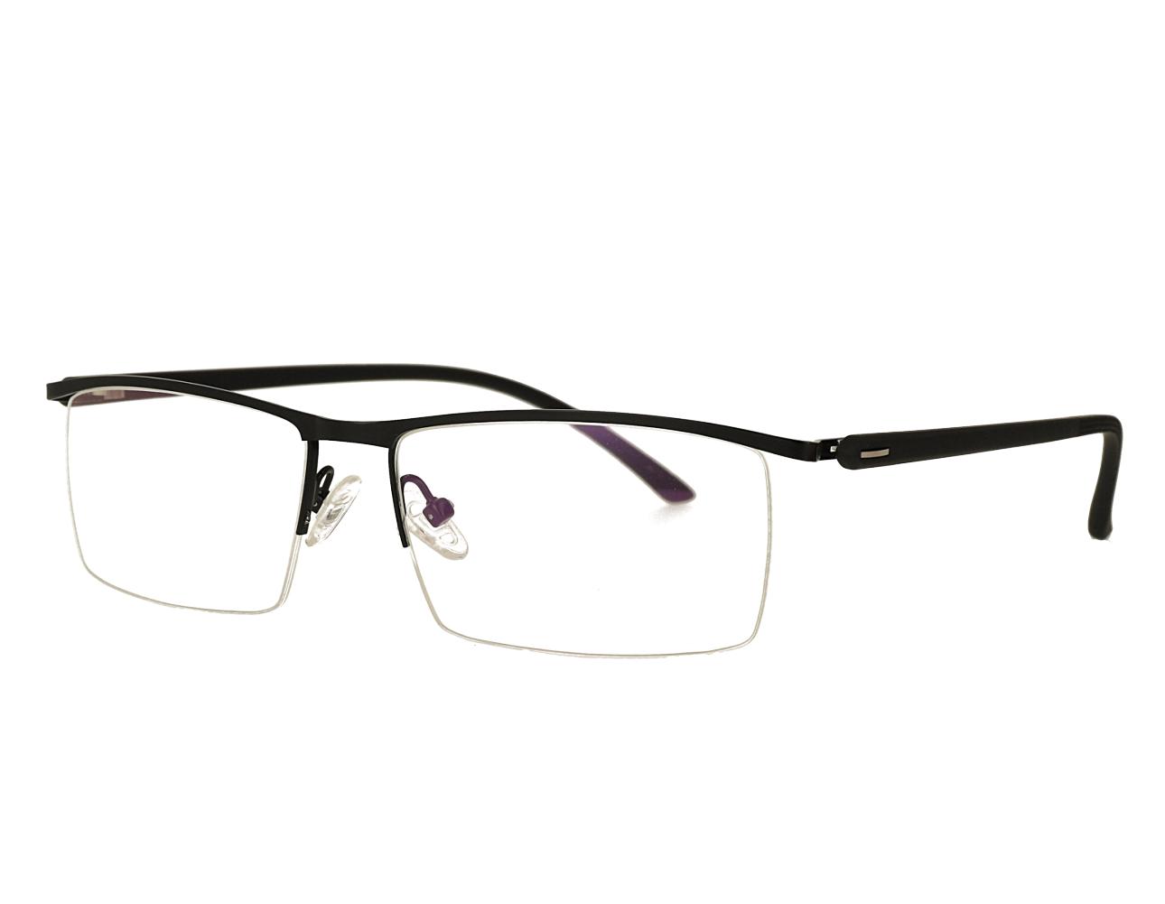 Man's Half Rim Metal Frame Optical Glasses with flexiable hinge