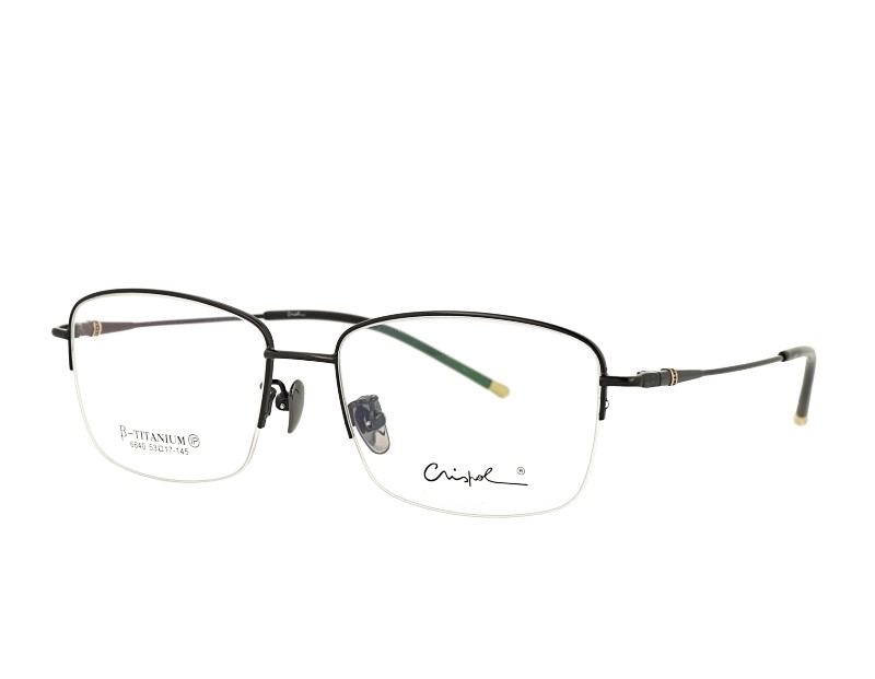 Man's Half Rim Pure Titanium Optical Eyeglasses  Frame