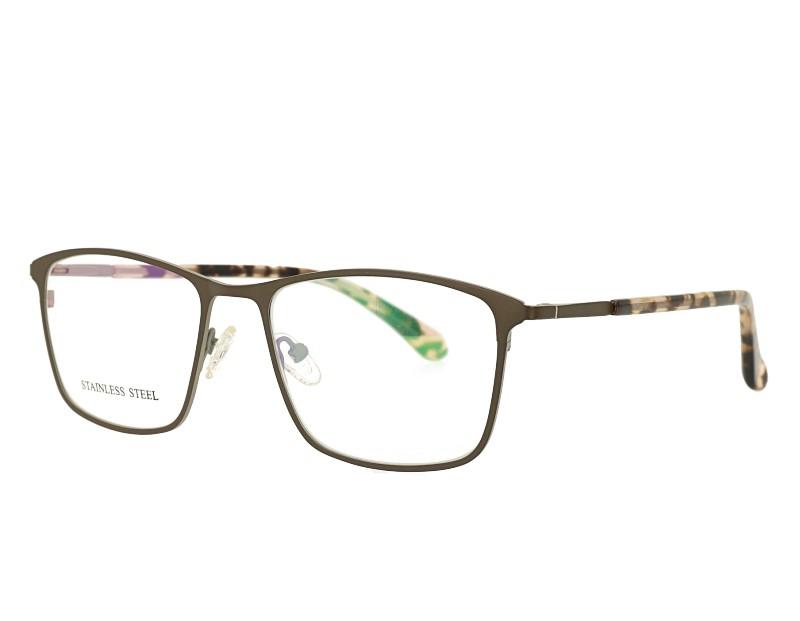 Man's Rectangle Metal Optical Eyewear