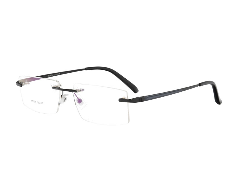 Man's Stainless Steel Rimless Optical Glasses Spectacles