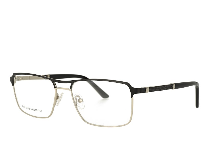 Mans double bridge Full rim metal frame eacetate temple with spring hinge