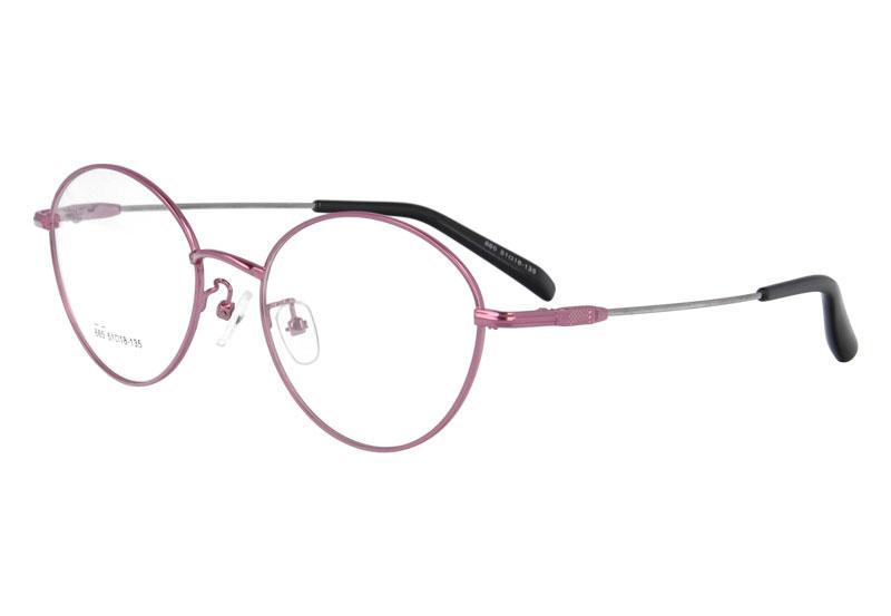 Memory oval titanium full rim optical frame eyewear