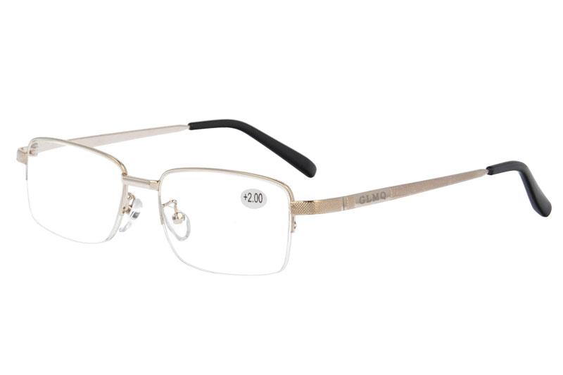 Metal Reading eyewear with anti blue  eyeglasses  ADD:+100~+400