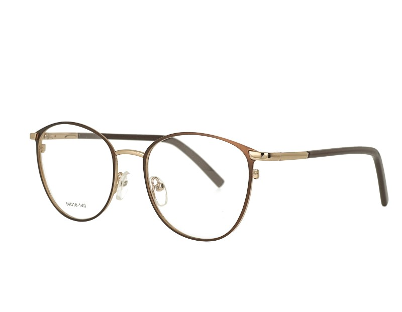 Oval Womans metal Prescription Optical Eyewear With spring hinge